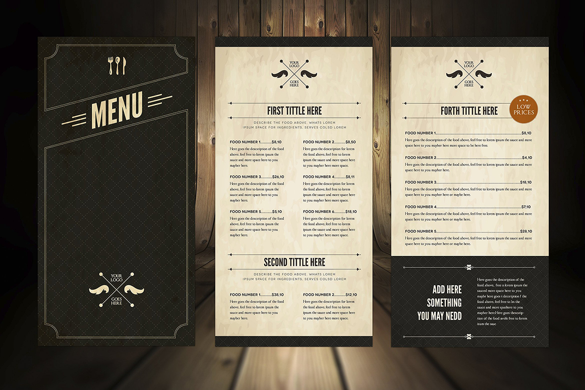 Elegant Food Menu 5