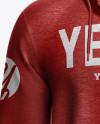 Melange Men's Full-Zip Hoodie Mockup - Front View