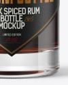 Black Rum Bottle with Wooden Cap Mockup