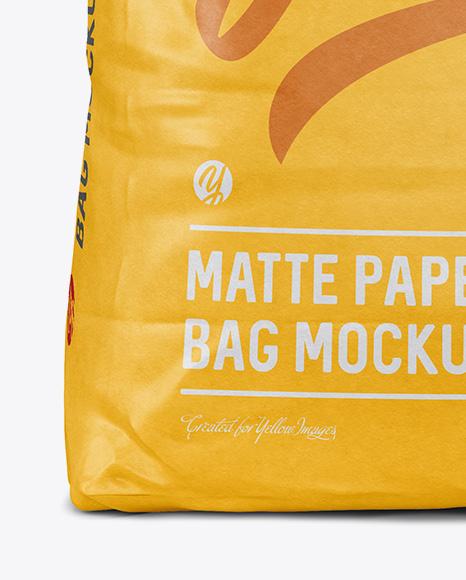 5 kg Matte Paper Bag Mockup - Front View