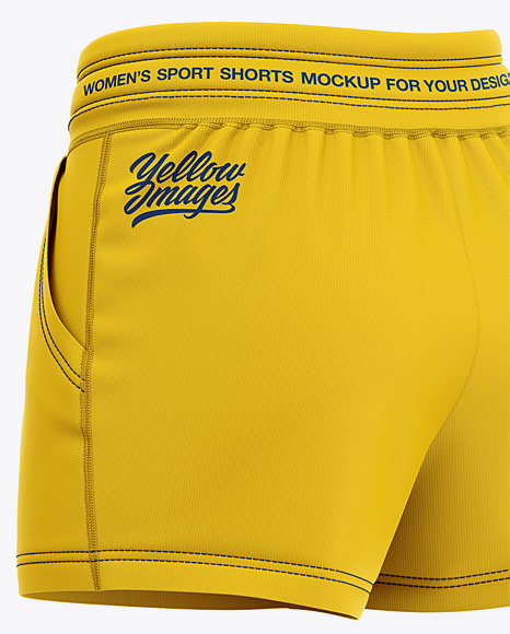 Download Shorts Mockup Back Half Side View Yellowimages