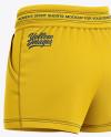 Women's Sport Shorts  Mockup - Back Half Side View
