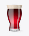Revival Glass With Red Ale Beer Mockup