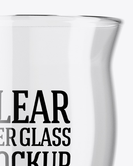 Empty Revival Glass Mockup