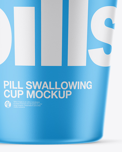 Matte Pill Swallowing Cup Mockup