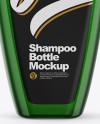 Green Shampoo Bottle Mockup