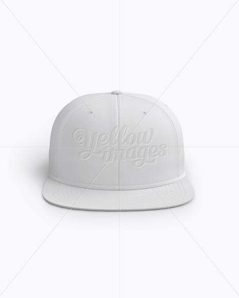 Snapback Cap Mockup (Front View)