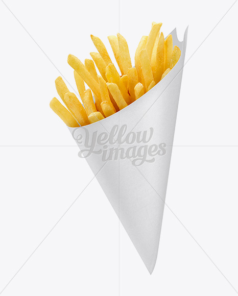 French Fries Paper Cone Mockup