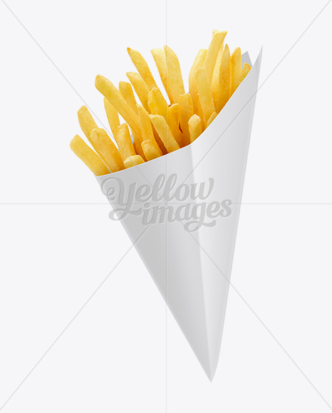 French Fries Carton Cone Mockup