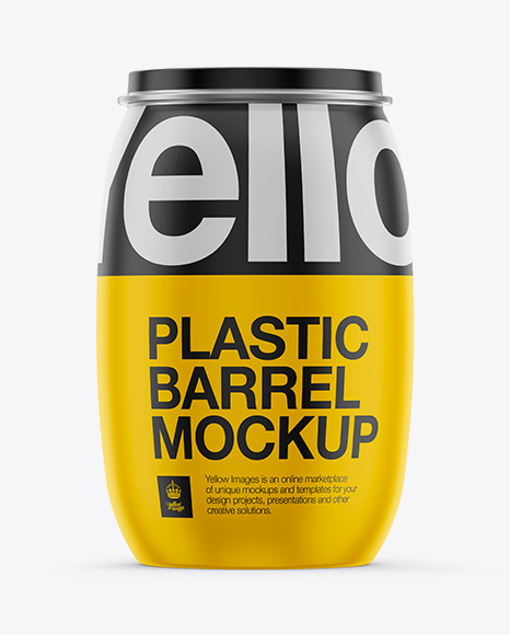 130L Plastic Barrel Mockup