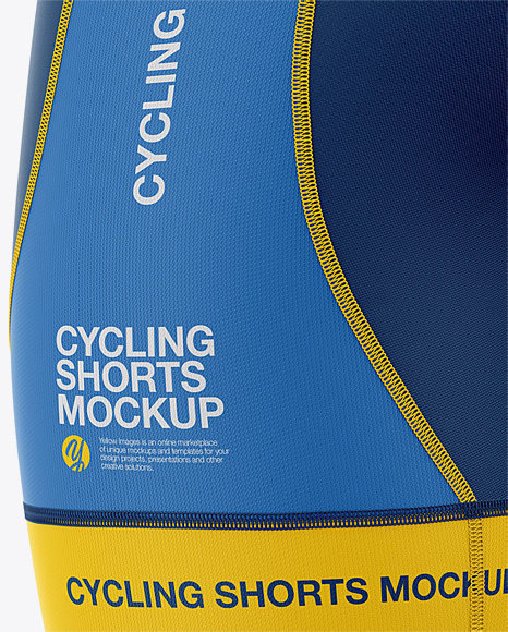 Men's Cycling Shorts Mockup - Back Right Half Side View