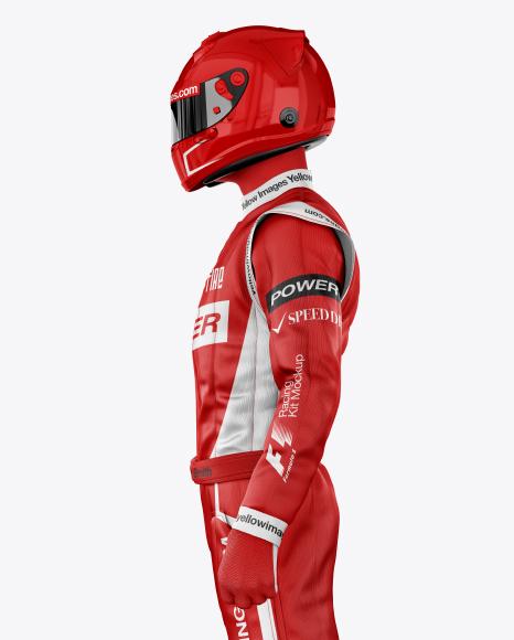 F1 Racing Kit Mockup - Side View