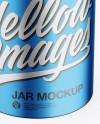 Matte Metallic Jar Mockup - Front View (High-Angle Shot)