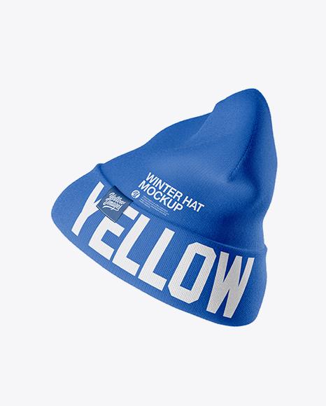 Beanie Hat Mockup - Side View