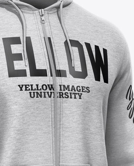 Download Melange Hoodie Mockup Back View Yellowimages