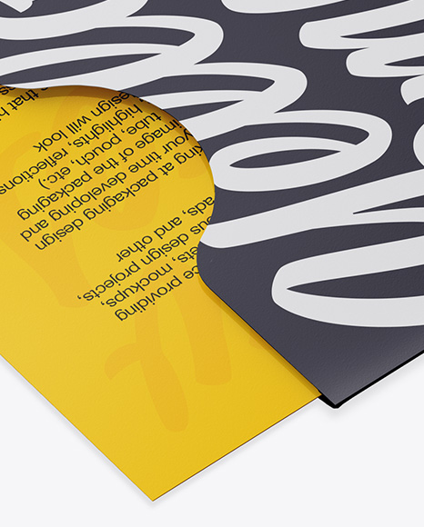Business Card in Cover Mockup - Half Side View