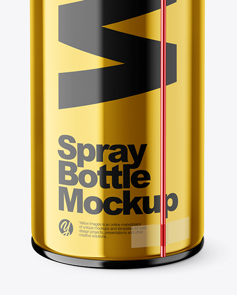 Metallic Spray Bottle Mockup