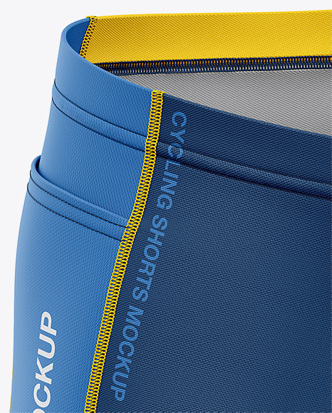 Men's Cycling Shorts Mockup - Front Right Half Side View