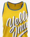 Women's Racerback Tank Top Mockup - Front View Of Sleeveless Shirt