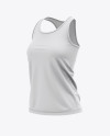 Women's Racerback Tank Top Mockup - Front Half Side View