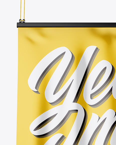 Glossy Banner Mockup - Front View