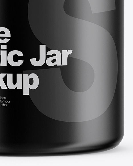 Matte Jar Mockup - Front View