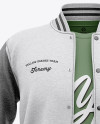 Open Heather Varsity Jacket & T-shirt