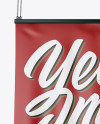 Matte Banner Mockup - Front View