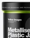 Matte Metallic Jar Mockup - Front View