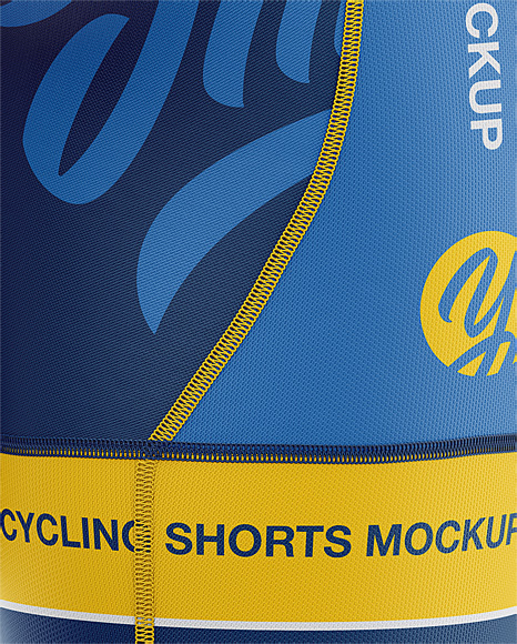 Men's Cycling Shorts Mockup - Back Left Half Side View