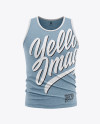 Men's Heather Jersey Tank Top Mockup - Front View