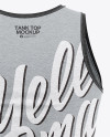 Men's Heather Jersey Tank Top Mockup - Back View