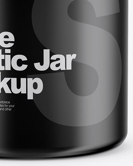 Matte Jar Mockup - Front View (High-Angle Shot)