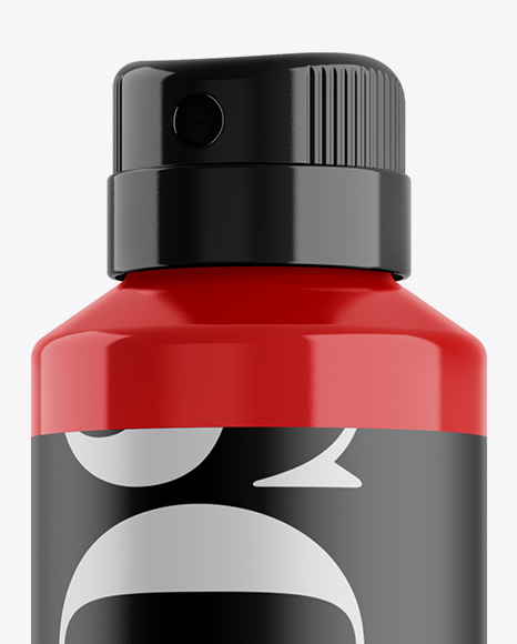 Glossy Spray Bottle Mockup - Half Side View