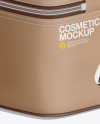 Cosmetic Bag Mockup - Back Half Side View