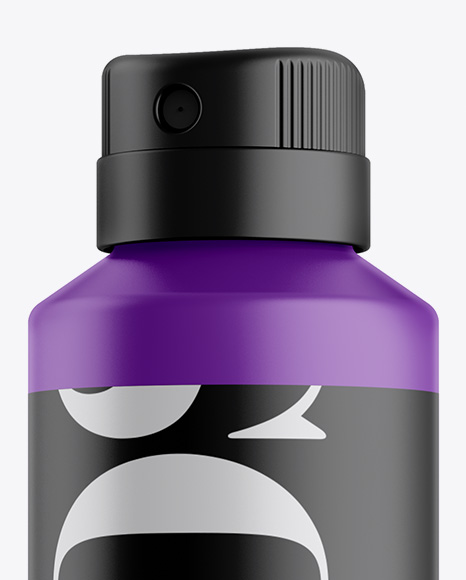 Matte Spray Bottle Mockup - Half Side View