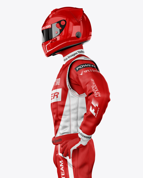 F1 Racing Kit Mockup - Side View