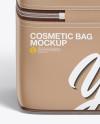 Cosmetic Bag Mockup - Back View (High-Angle Shot)
