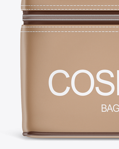 Cosmetic Bag Mockup - Front View