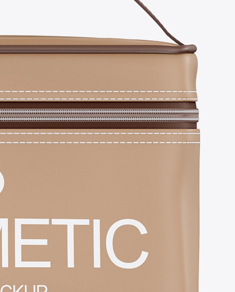Download Cosmetic Bag Mockup Front View Yellow Images