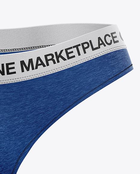 Melange Women`s Underwear Kit Mockup - Front View