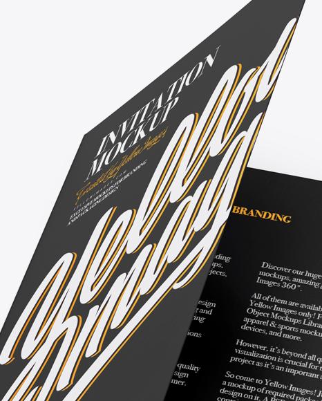 A5 Invitation Brochure Mockup