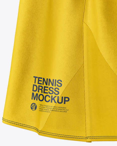 Women's Tennis Dress Mockup - Side View