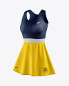 Women's Tennis Dress Mockup - Half Side View