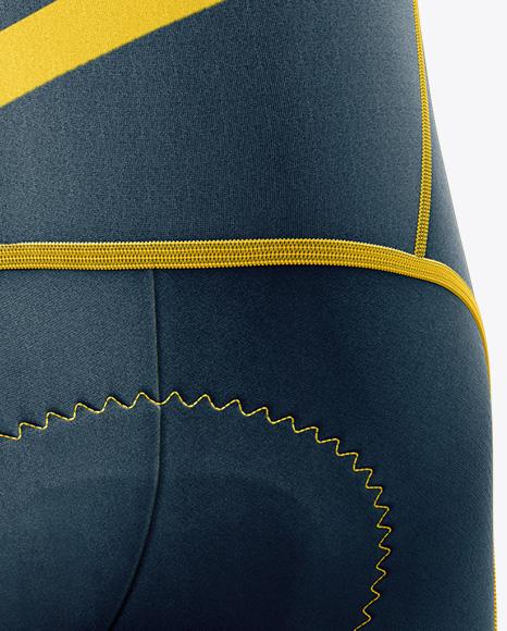 Men's Cycling Bib Knickers mockup (Back Half Side View)