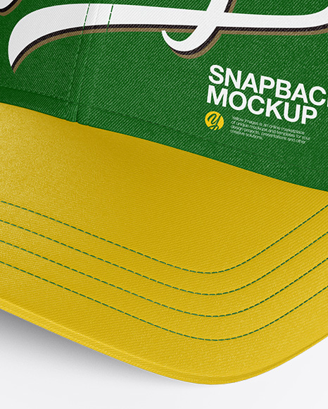 Download Snapback Cap Mockup Half Side View Yellow Images