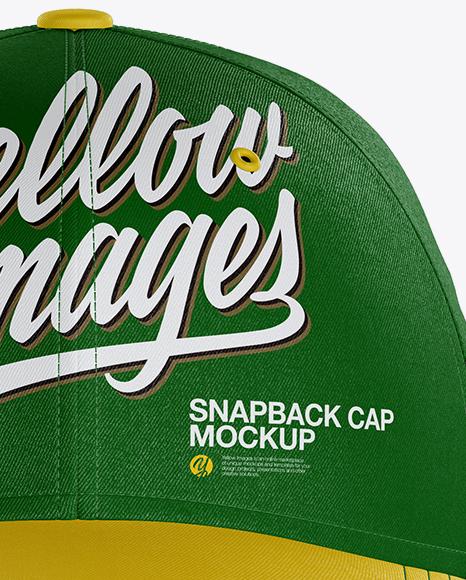 Snapback Cap Mockup - Front View