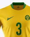 Men's Full Soccer Kit Mockup - Front View