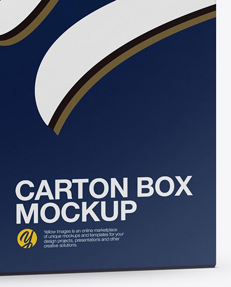 Download Carton Box Mockup Half Side View In Box Mockups On Yellow Images Object Mockups PSD Mockup Templates
