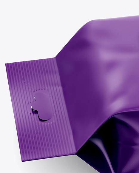 Matte Wet Wipes Pack W/ Plastic Cap Mockup - Half SIde View (High Angle Shot)